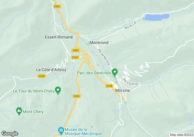 Map for Morzine/Montriond, Haute-Savoie, Alps, France