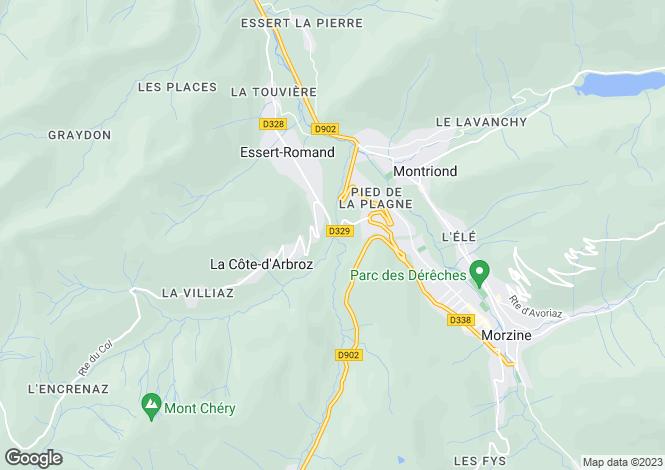 Map for Morzine