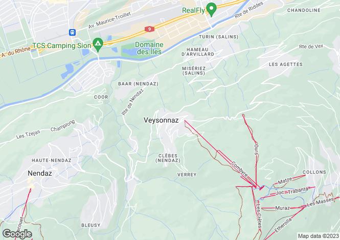 Map for Valais, Veysonnaz