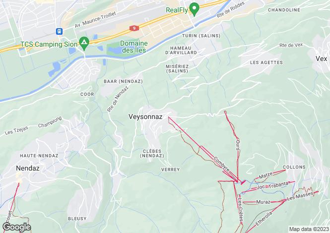 Map for Residence Les Hauts de Veysonnaz, Veysonnaz, Valais, Switzerland