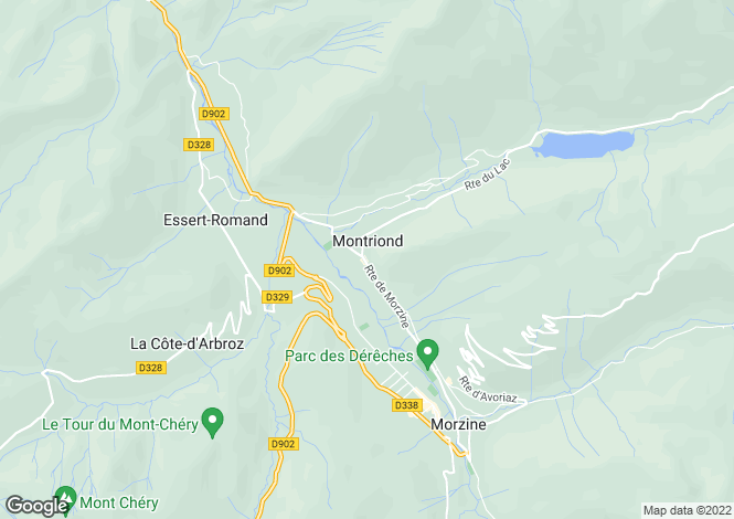 Map for Montriond, Haute Savoie, France, 74110