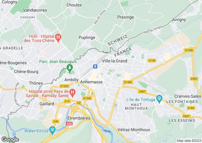Map for Genève, Genève