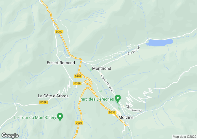 Map for Montriond, Haute-Savoie, Rhone Alps