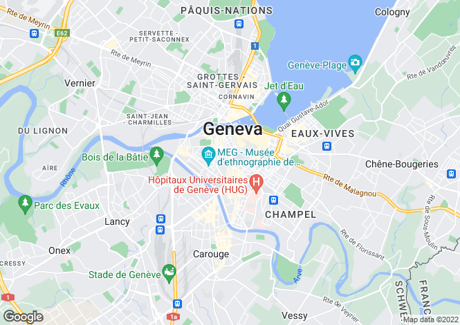 Map for Geneva, Geneva, Switzerland