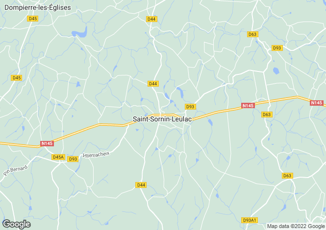Map for st-sornin-leulac, Haute-Vienne, France