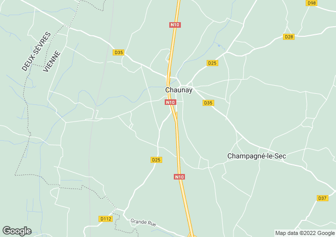 Map for chaunay, Vienne, France