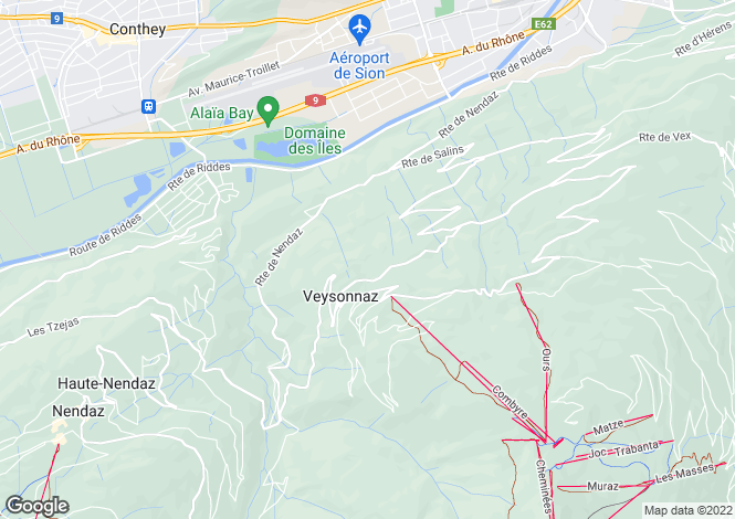 Map for Ski-In, Ski-Out Apartments, Veysonnaz, Valais
