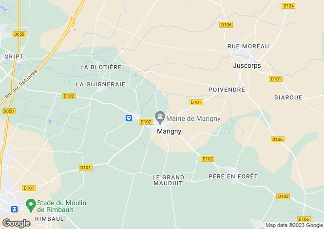 Map for marigny, Deux-Sèvres, France