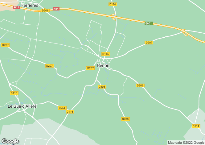 Map for benon, Charente-Maritime, France
