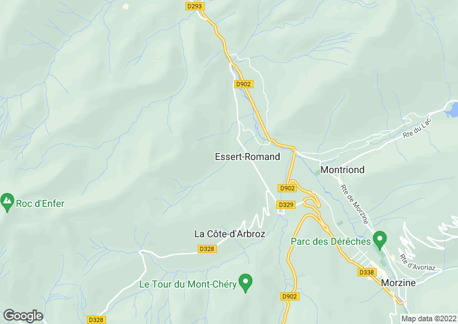 Map for Essert-Romand, Haute-Savoie, 74110, France