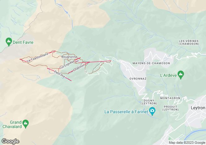 Map for Valais, Ovronnaz