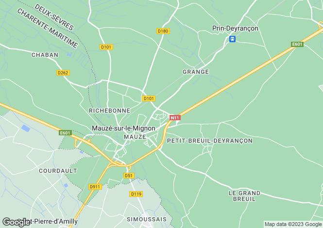 Map for mauze-sur-le-mignon, Deux-Sèvres, France