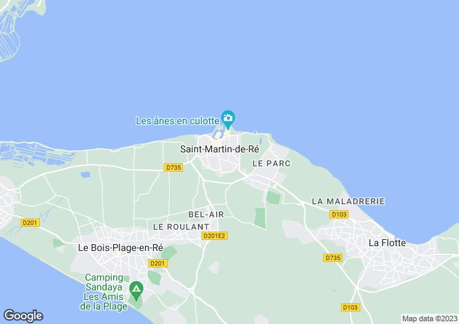 Map for Poitou-Charentes, Charente-Maritime, St-Martin-de-Ré