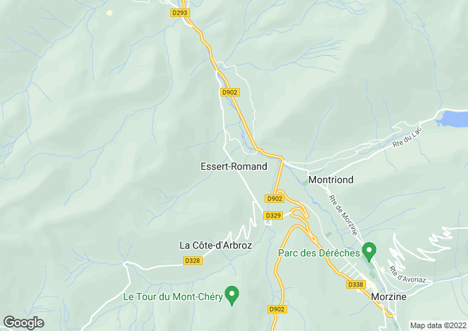 Map for Essert Romand, Haute Savoie, France, 74430