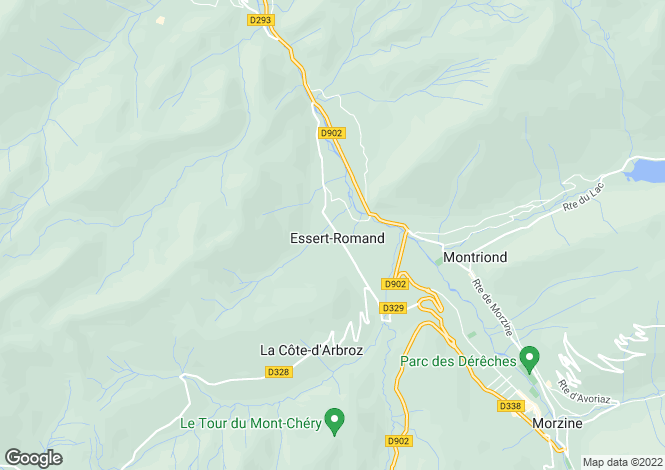 Map for Rhone Alps, Haute-Savoie, Essert-Romand