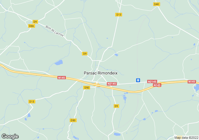 Map for Limousin, Creuse, Parsac