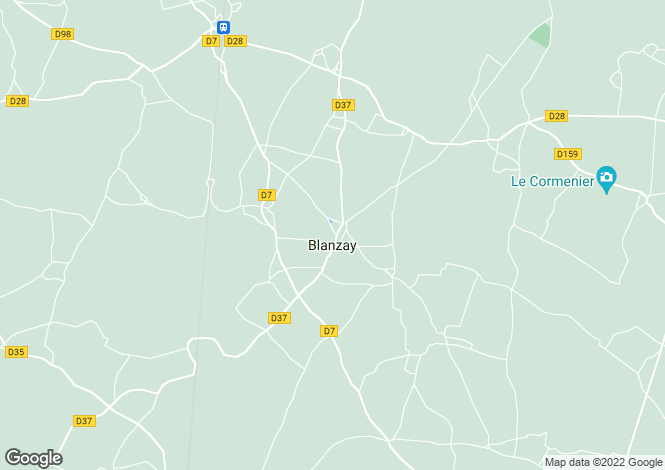 Map for blanzay, Vienne, France