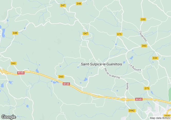 Map for st-sulpice-le-gueretois, Creuse, France