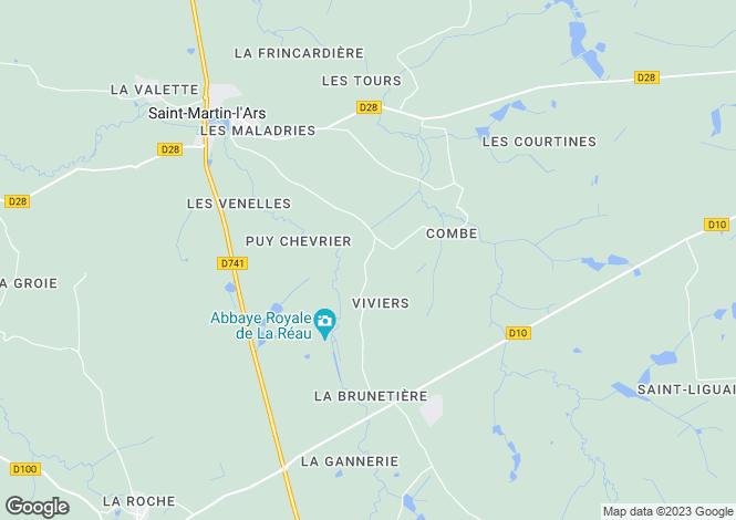 Map for St-Martin-l`Ars, Vienne, Poitou-Charentes