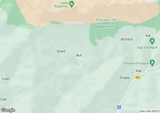 Map for Podbrdo, Tolmin