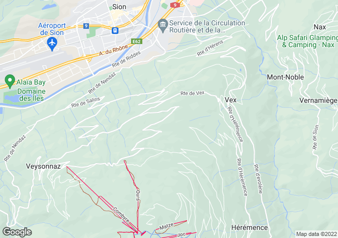 Map for Les Agettes, Valais