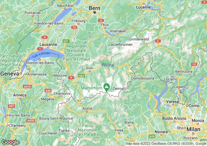 Map for Valais, Valais