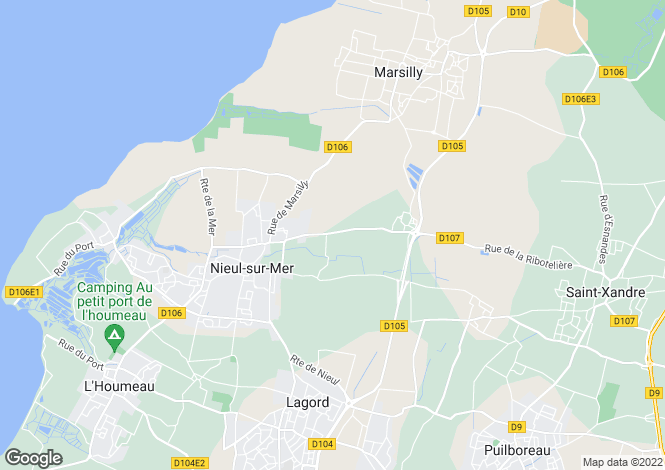 Map for nieul-sur-mer, Charente-Maritime, France