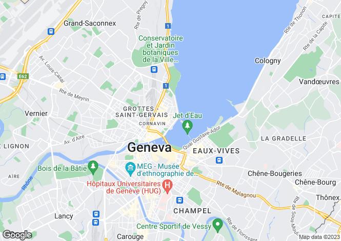 Map for Switzerland - Genève, Genève