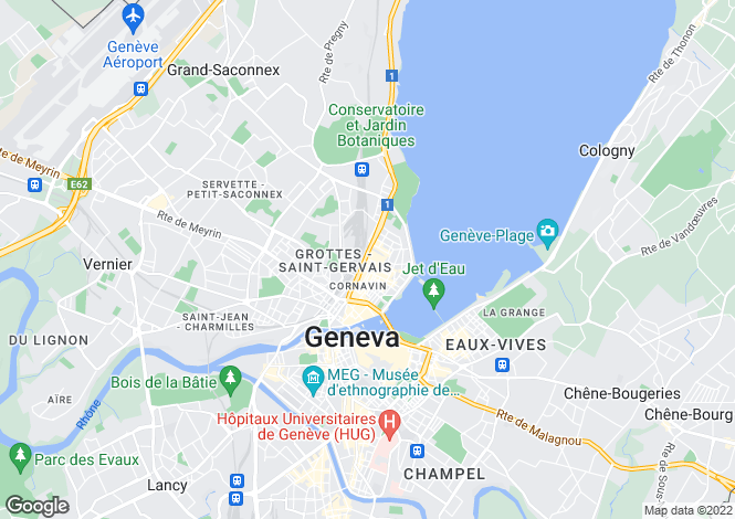 Map for Geneve, Geneve