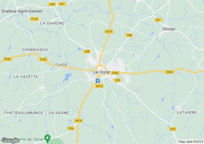 Map for Proche/Near Le Dorat, Haute Vienne