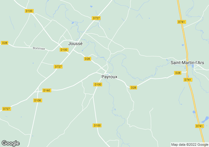 Map for payroux, Vienne, France