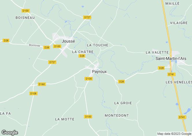 Map for Secteur: Charroux, Vienne