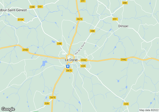 Map for le-dorat, Haute-Vienne, France