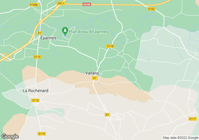 Map for frontenay-rohan-rohan, Deux-Sèvres, France