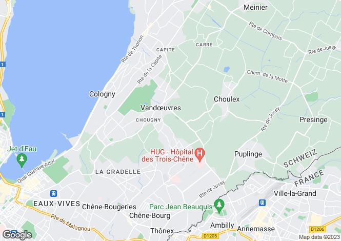 Map for Genève, Vandoeuvres