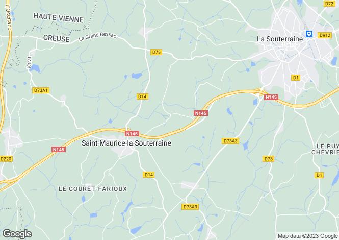 Map for st-maurice-la-souterraine, Creuse, France