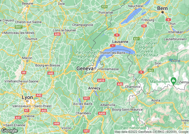 Map for Genève