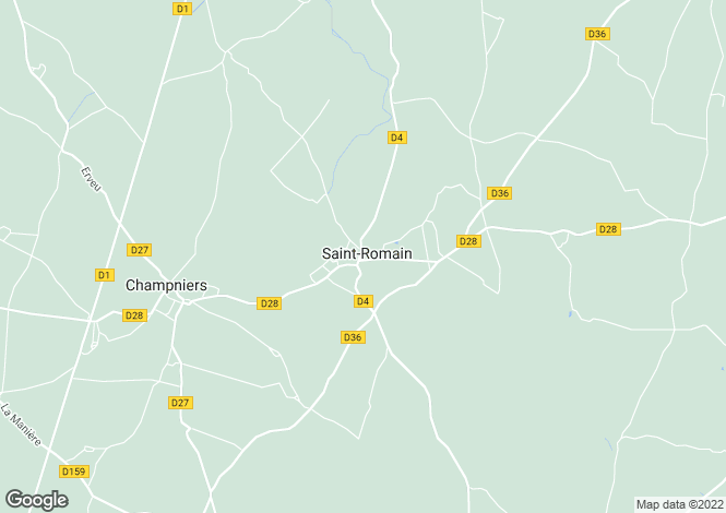 Map for st-romain-en-charroux, Vienne, France