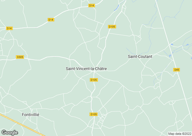 Map for St Vincent La Chatre, Deux-Sèvres, 79500, France