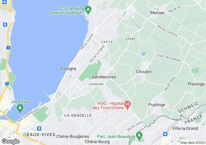 Map for Switzerland - Genève, Vandoeuvres