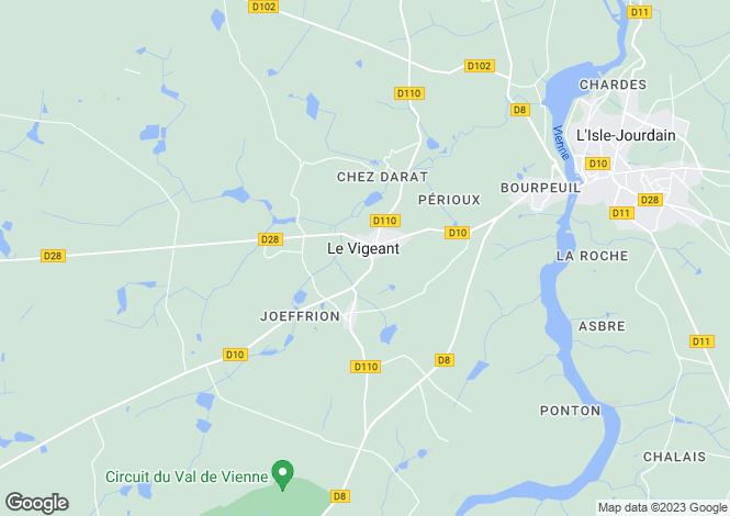 Map for Le Vigeant, Vienne, Poitou-Charentes