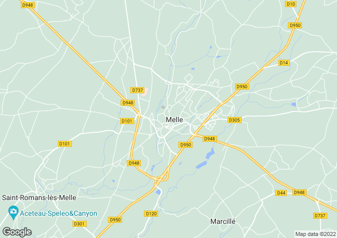 Map for melle, Deux-Sèvres, France