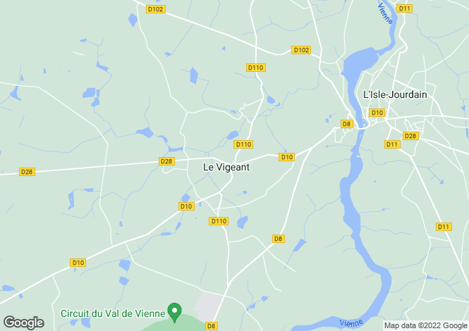 Map for le-vigeant, Vienne, France