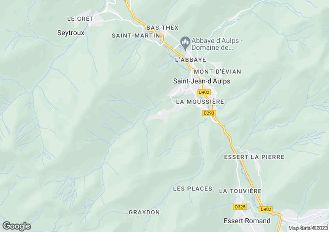 Map for Rhone Alps, Haute-Savoie, Saint Jean D'aulps