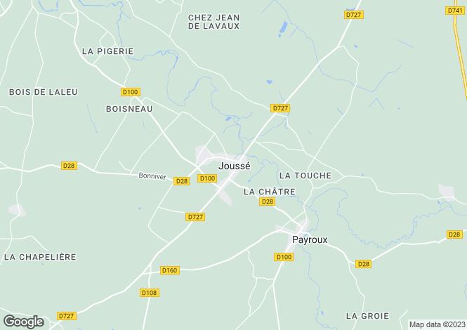 Map for Secteur: Jousse, Vienne