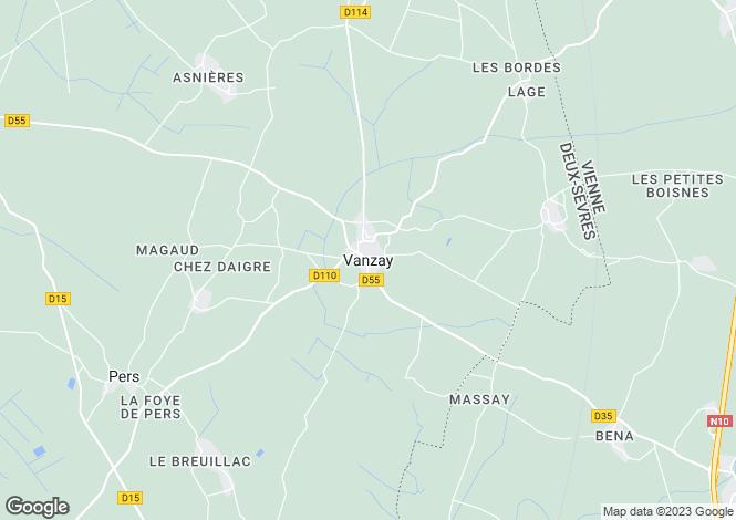 Map for Vanzay, Poitou-Charentes, 79120, France