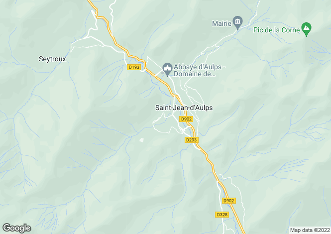 Map for Saint Jean D'aulps, Haute-Savoie, Rhone Alps