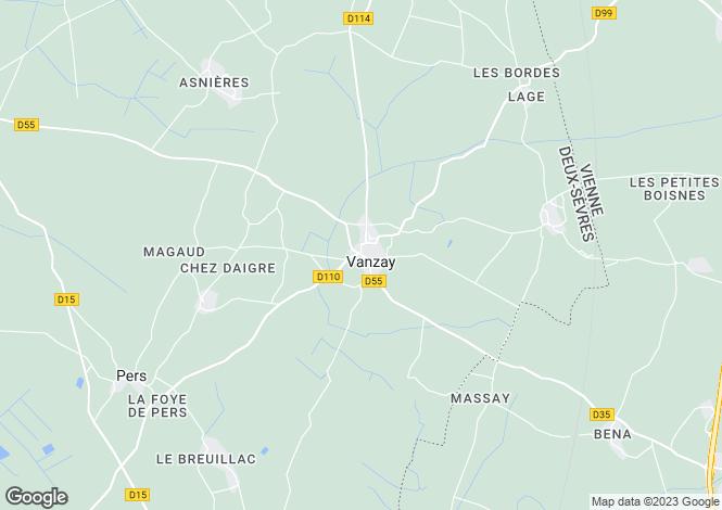 Map for Vanzay, Deux-Sèvres, 79120, France