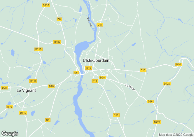 Map for L`Isle-Jourdain, Vienne, Poitou-Charentes
