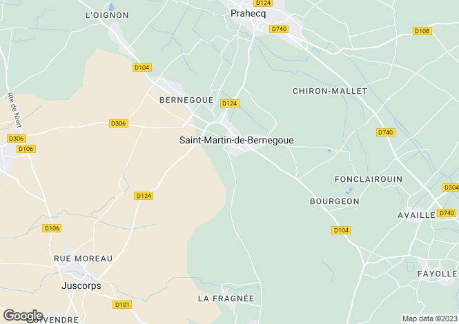 Map for prahecq, Deux-Sèvres, France